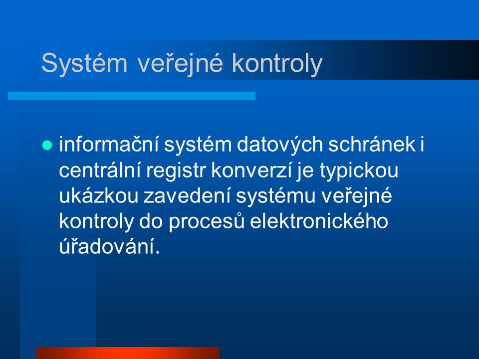 Systém veřejné kontroly