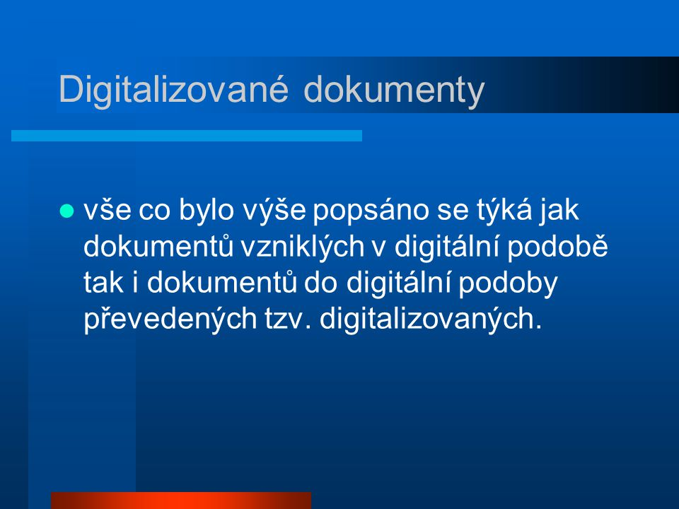 Digitalizované dokumenty