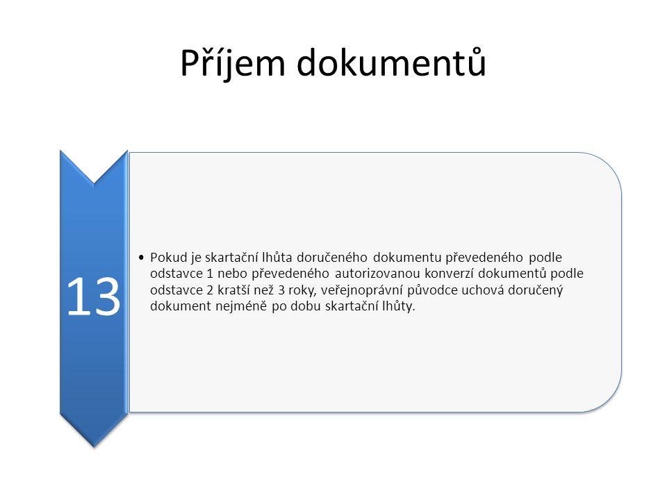 Příjem dokumentů 13.