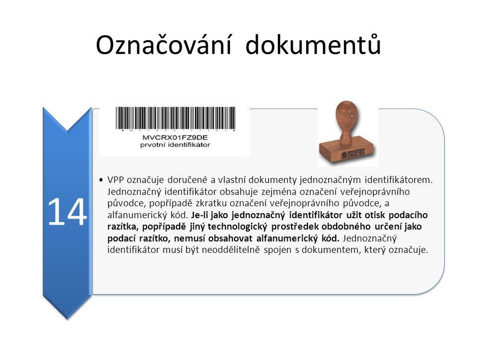 Označování dokumentů 14.