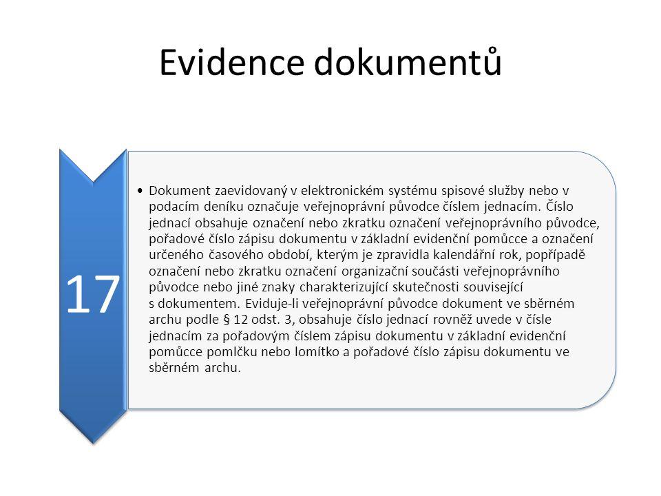 Evidence dokumentů 17.