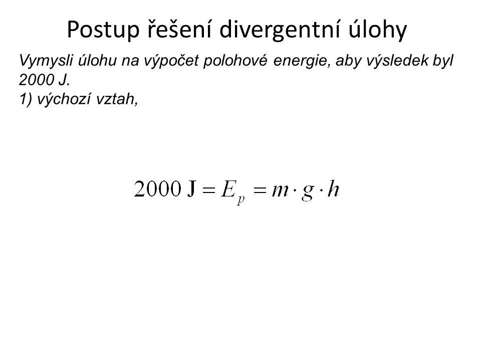 Postup řešení divergentní úlohy