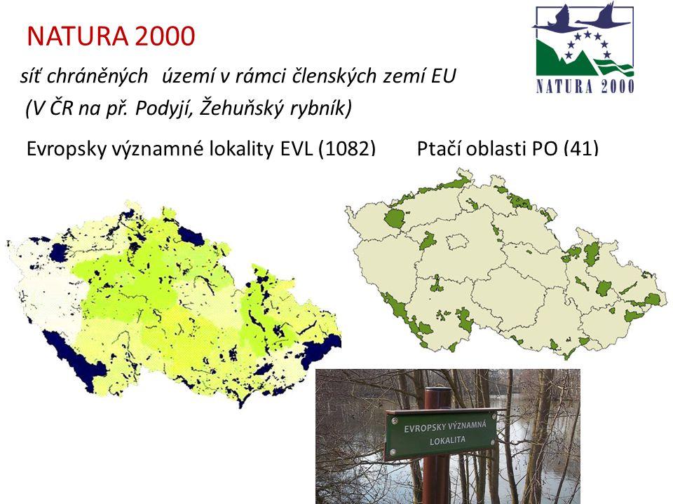 NATURA 2000 síť chráněných území v rámci členských zemí EU