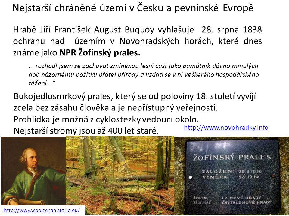 Nejstarší chráněné území v Česku a pevninské Evropě