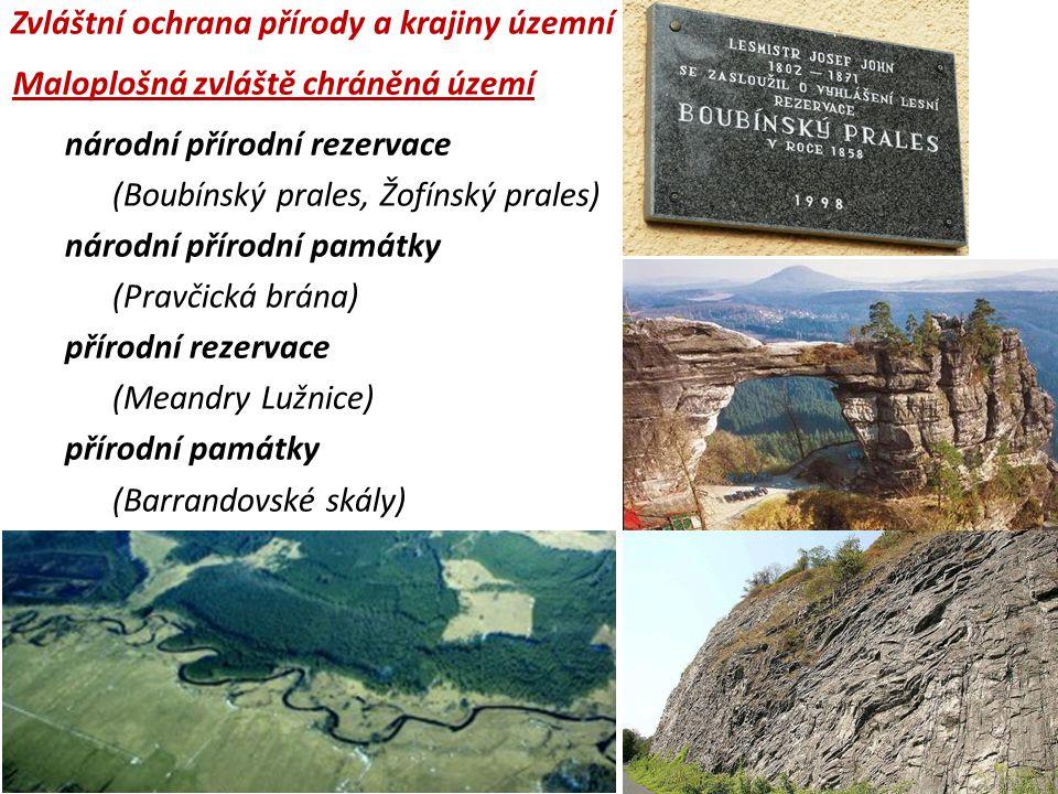 Zvláštní ochrana přírody a krajiny územní