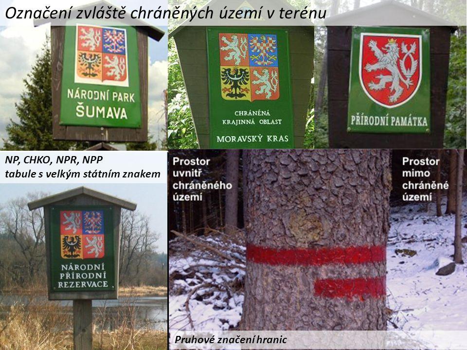 Označení zvláště chráněných území v terénu