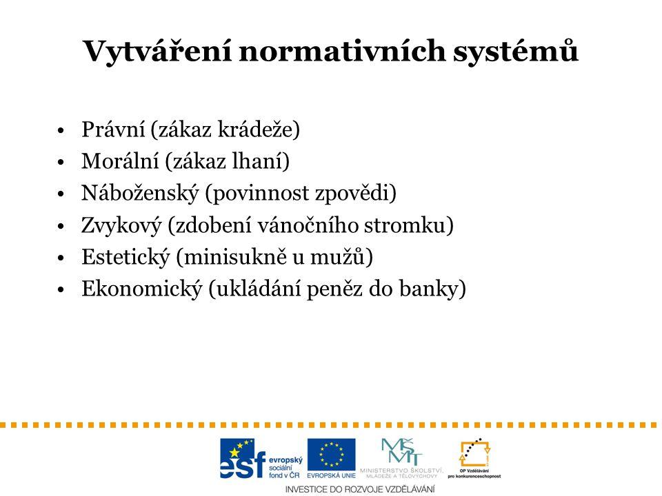 Vytváření normativních systémů