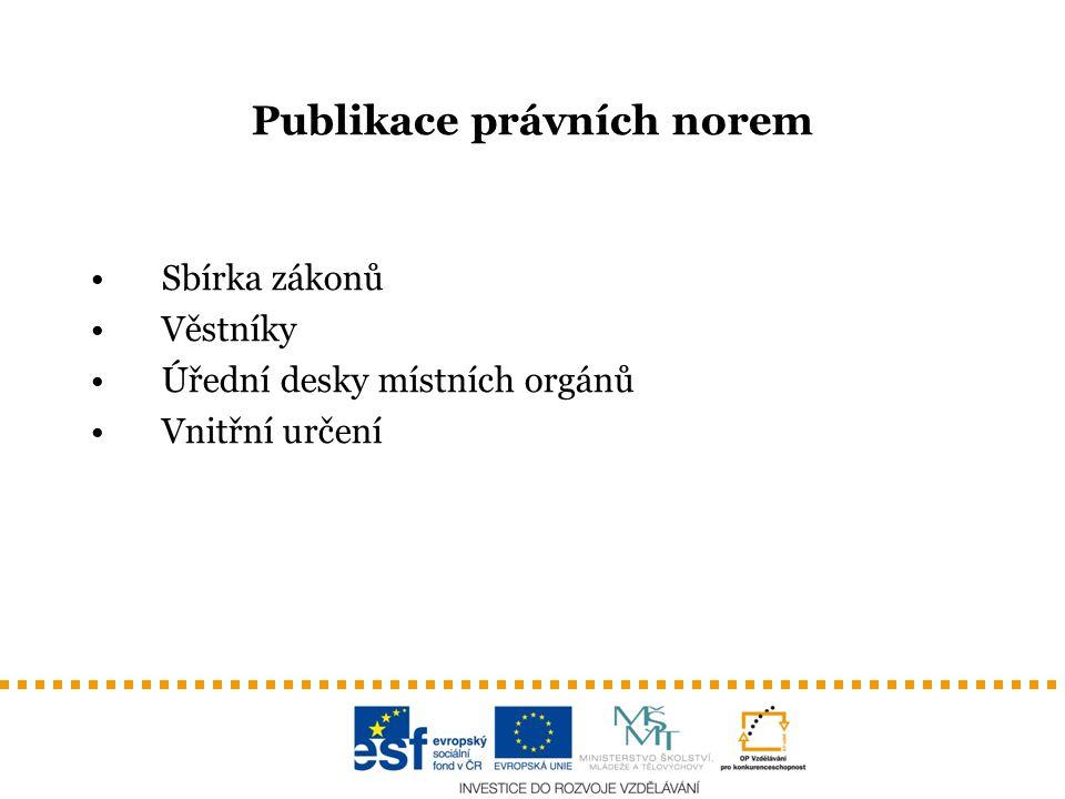 Publikace právních norem