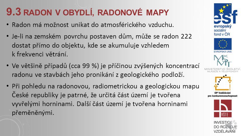 9.3 radon v obydlí, radonové mapy