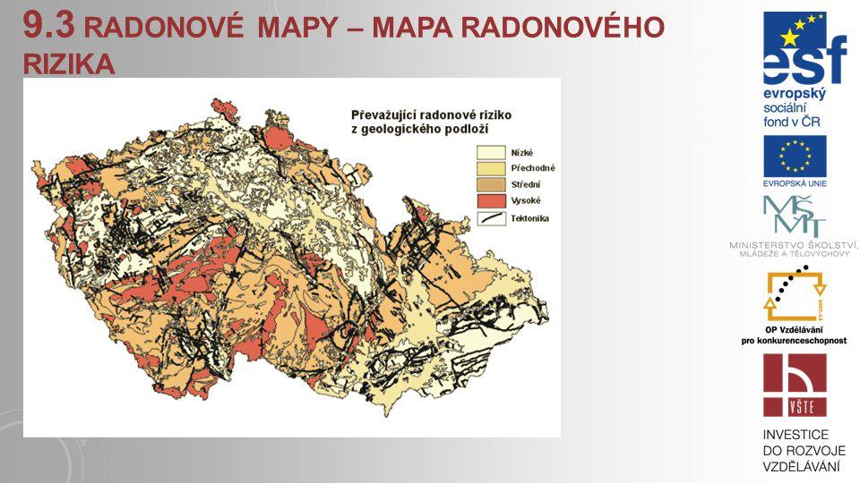 9.3 radonové mapy – mapa radonového rizika