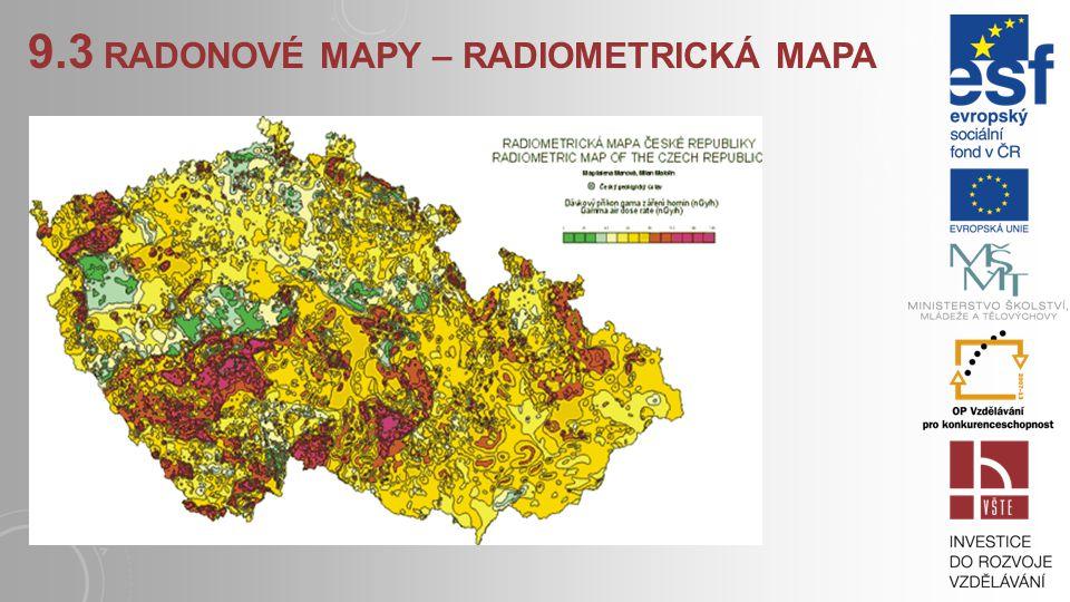 9.3 radonové mapy – radiometrická mapa