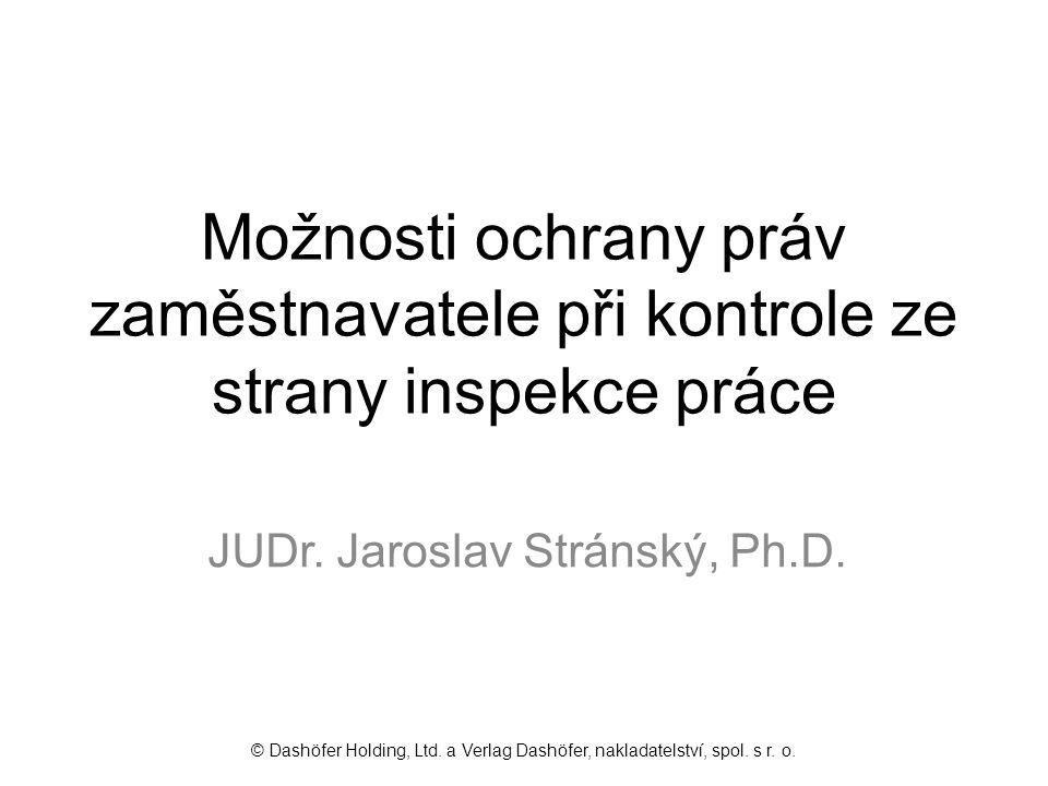 JUDr. Jaroslav Stránský, Ph.D.