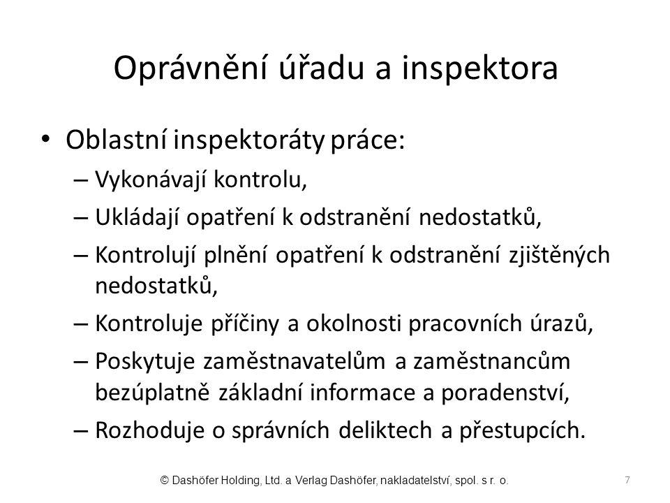 Oprávnění úřadu a inspektora