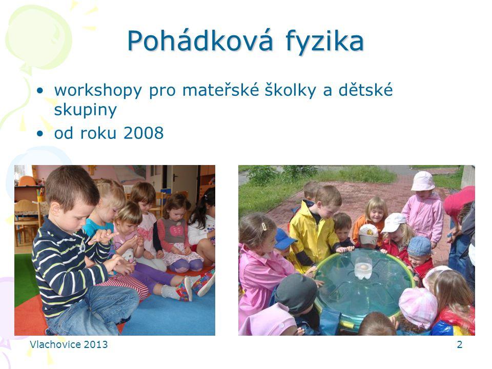 Pohádková fyzika workshopy pro mateřské školky a dětské skupiny