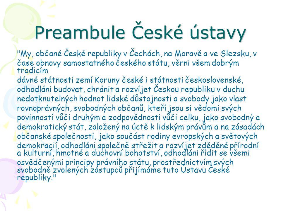 Preambule České ústavy