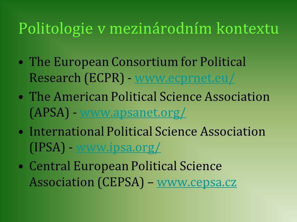 Politologie v mezinárodním kontextu