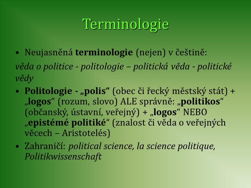 Terminologie Neujasněná terminologie (nejen) v češtině: