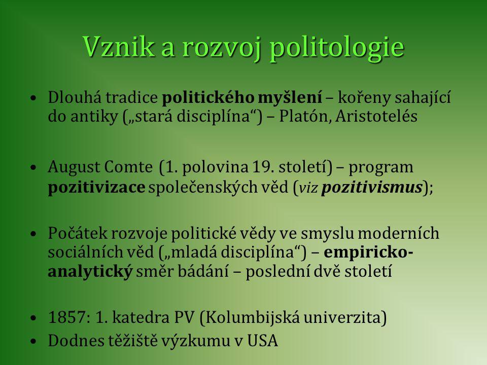 Vznik a rozvoj politologie
