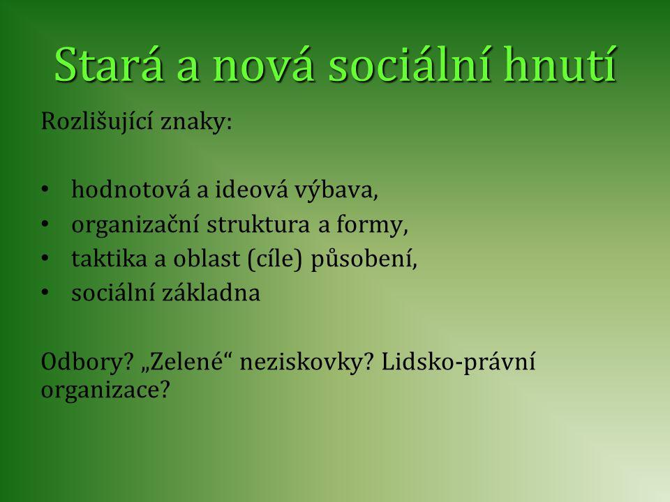 Stará a nová sociální hnutí