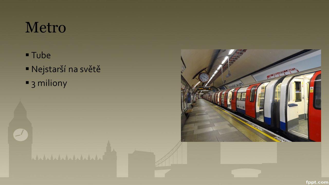 Metro Tube Nejstarší na světě 3 miliony