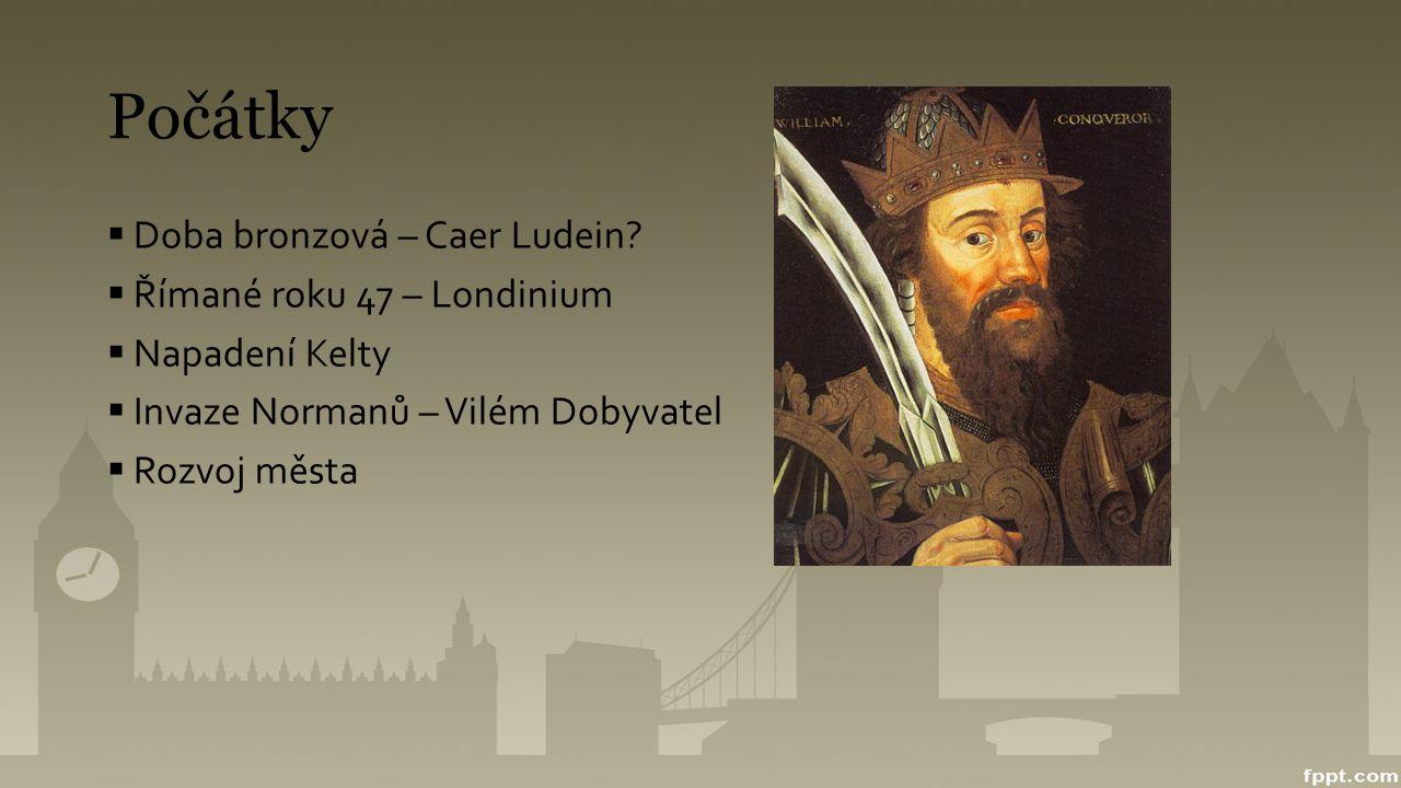Počátky Doba bronzová – Caer Ludein Římané roku 47 – Londinium