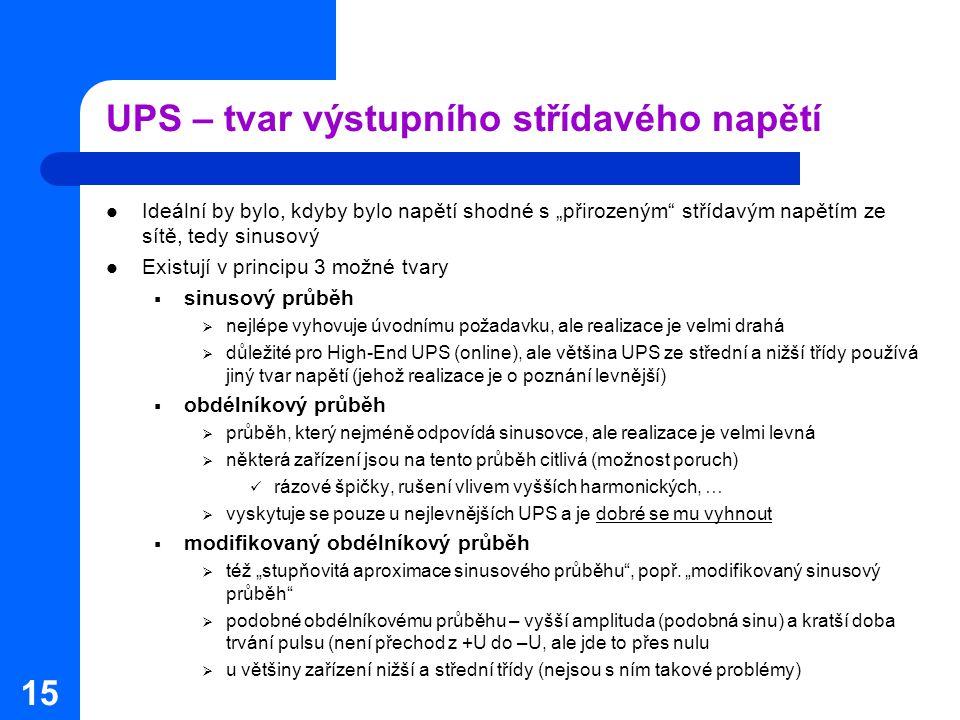 UPS – tvar výstupního střídavého napětí