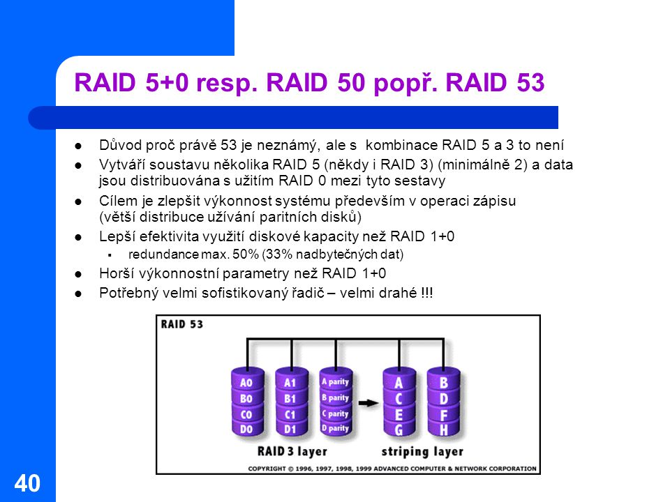 RAID 5+0 resp. RAID 50 popř. RAID 53