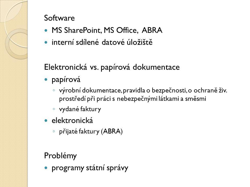 Elektronická vs. papírová dokumentace