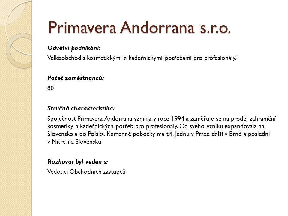 Primavera Andorrana s.r.o.