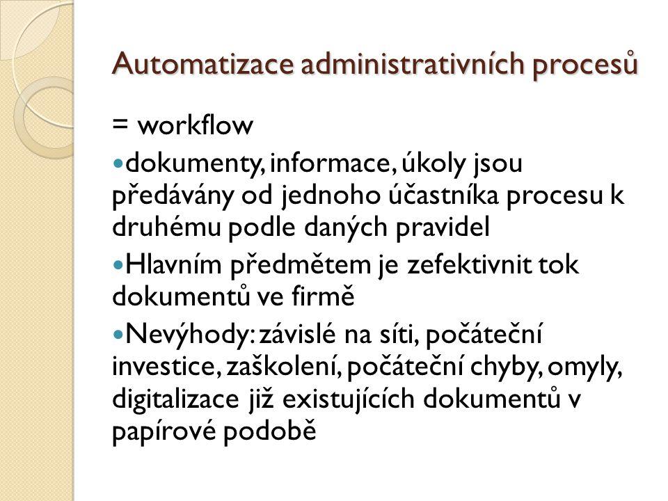 Automatizace administrativních procesů