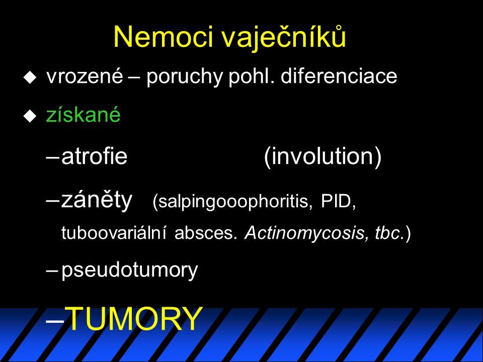 TUMORY Nemoci vaječníků atrofie (involution)