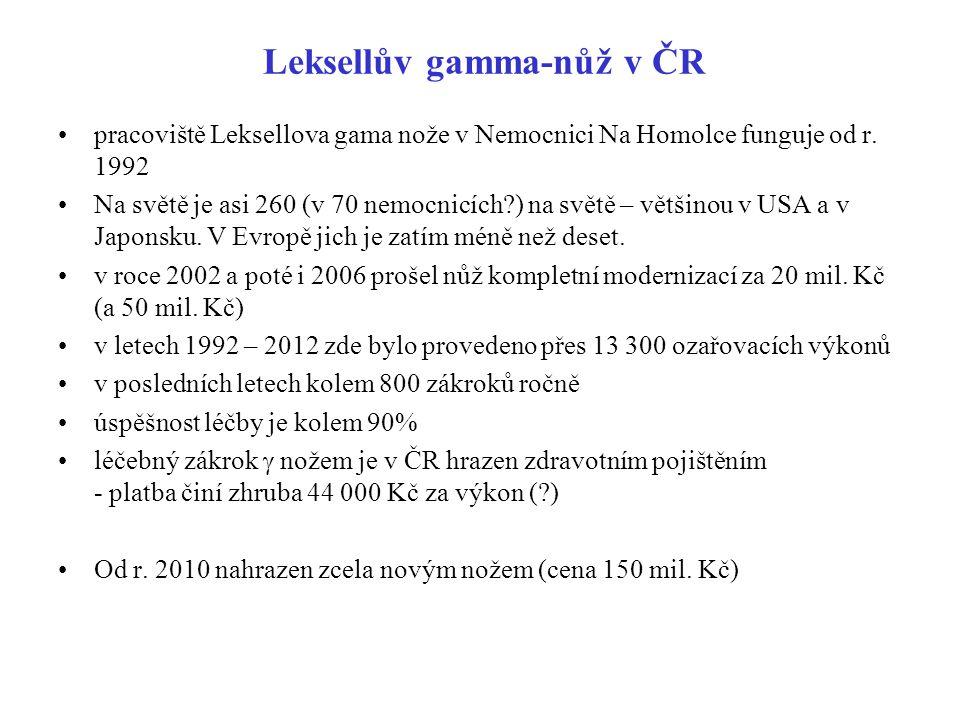 Leksellův gamma-nůž v ČR