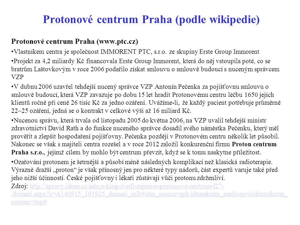 Protonové centrum Praha (podle wikipedie)