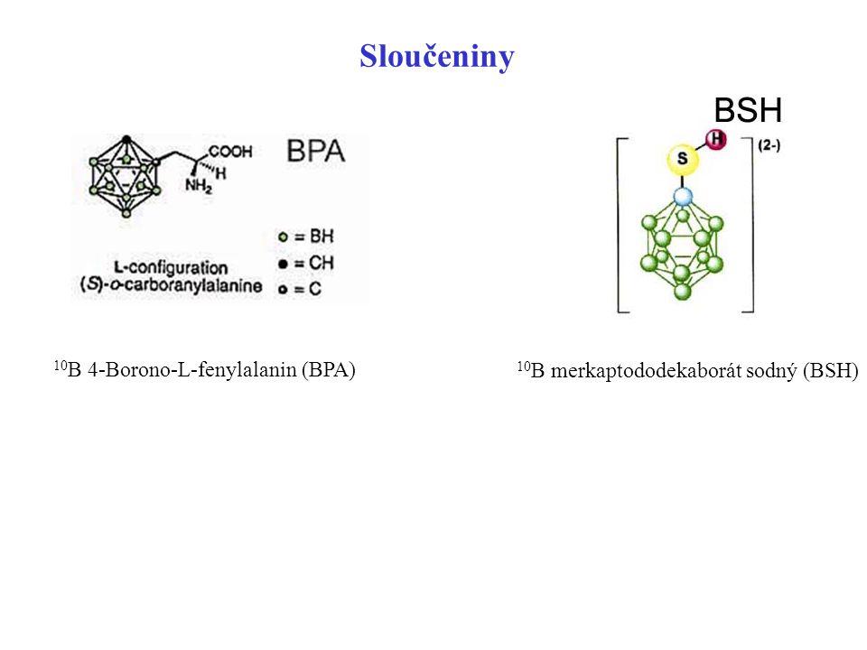 Sloučeniny 10B 4-Borono-L-fenylalanin (BPA)