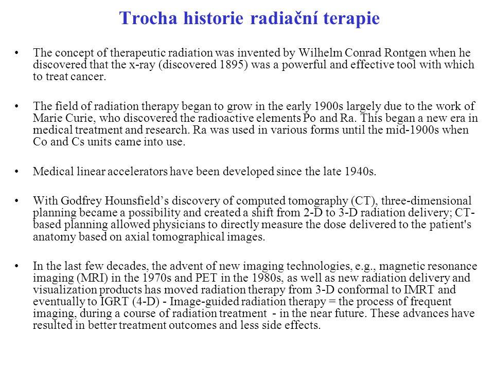 Trocha historie radiační terapie