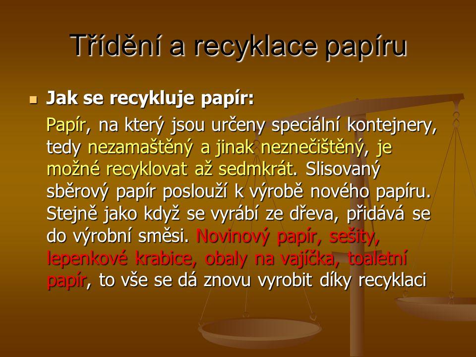 Třídění a recyklace papíru