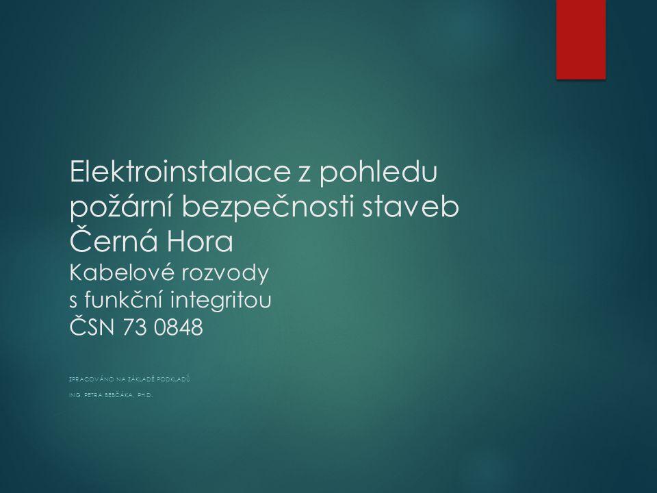 Zpracováno na základě podkladů Ing. Petra Bebčáka, Ph.D.