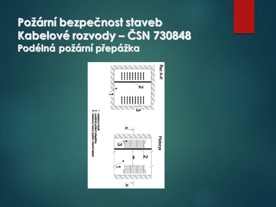 Požární bezpečnost staveb Kabelové rozvody – ČSN 730848 Podélná požární přepážka