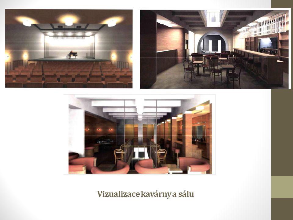 Vizualizace kavárny a sálu