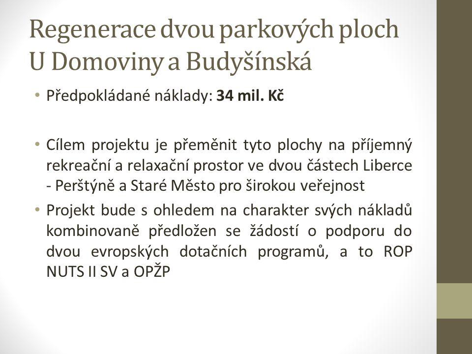 Regenerace dvou parkových ploch U Domoviny a Budyšínská