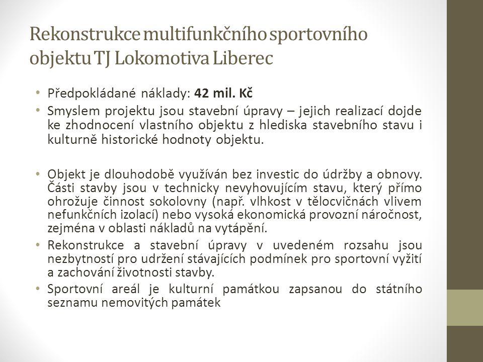 Rekonstrukce multifunkčního sportovního objektu TJ Lokomotiva Liberec