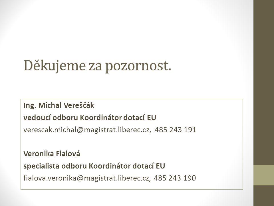 Děkujeme za pozornost. Ing. Michal Vereščák