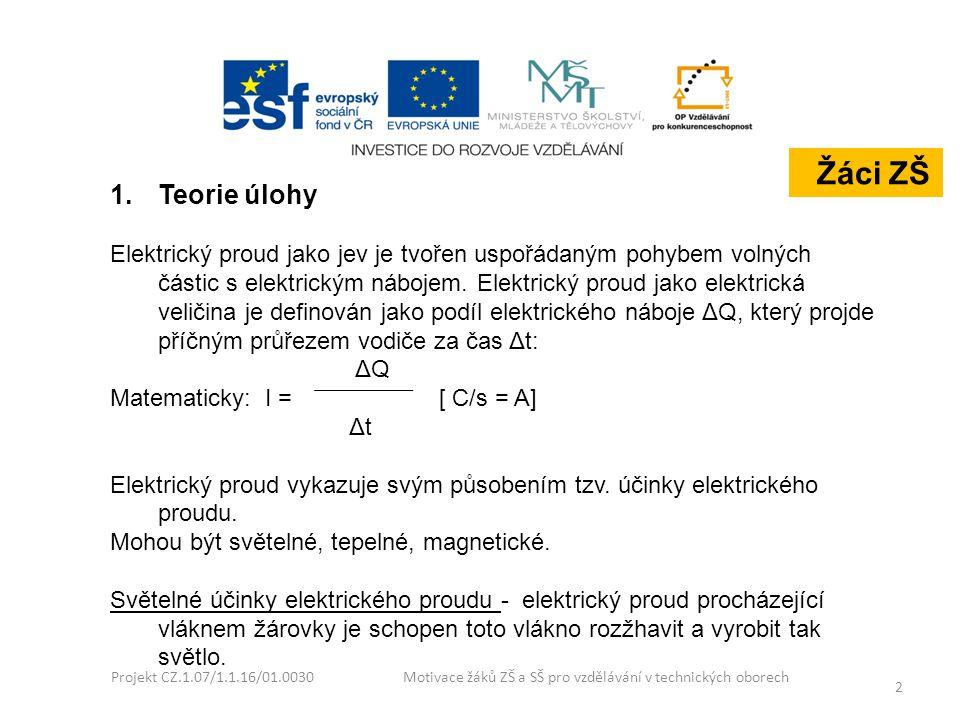 Žáci ZŠ Teorie úlohy.