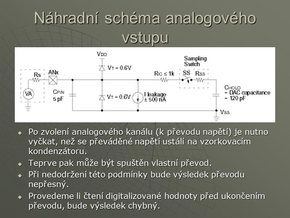 Náhradní schéma analogového vstupu