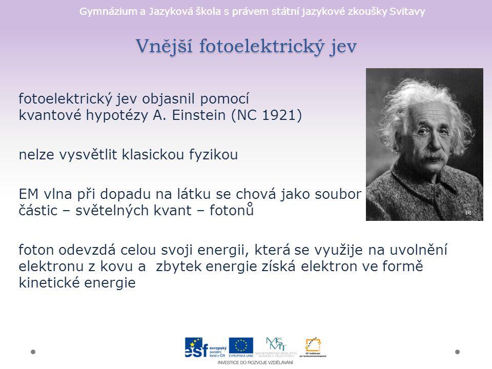 Vnější fotoelektrický jev