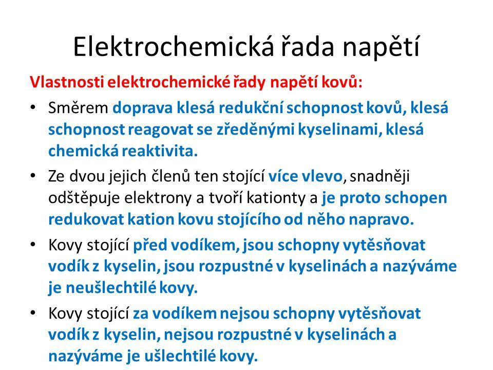 Elektrochemická řada napětí