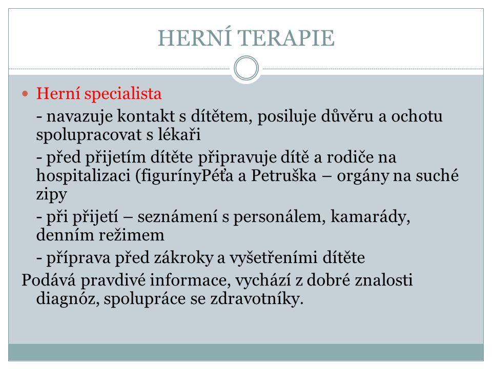 HERNÍ TERAPIE Herní specialista