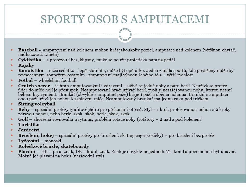 SPORTY OSOB S AMPUTACEMI