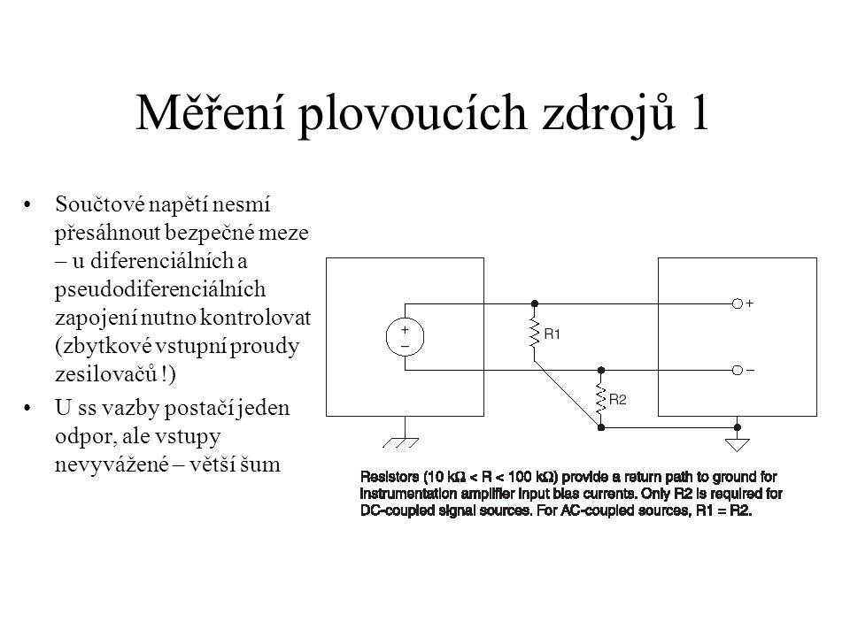Měření plovoucích zdrojů 1