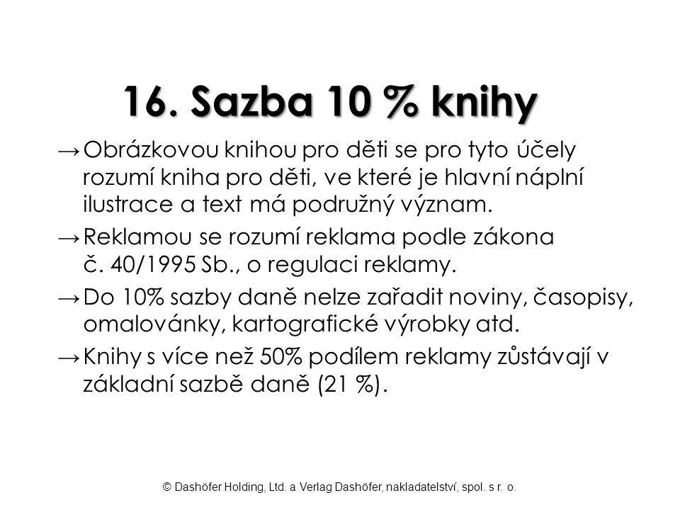 16. Sazba 10 % knihy